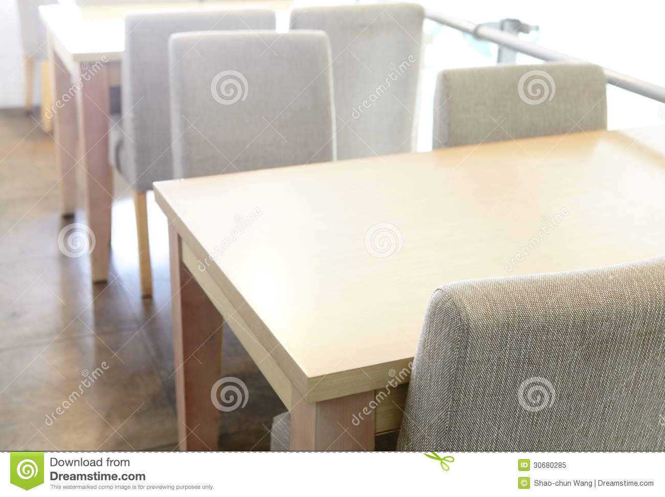 Wooden table and chair in coffee shop stock image image 30680285 wooden table and chair in coffee shop geotapseo Gallery