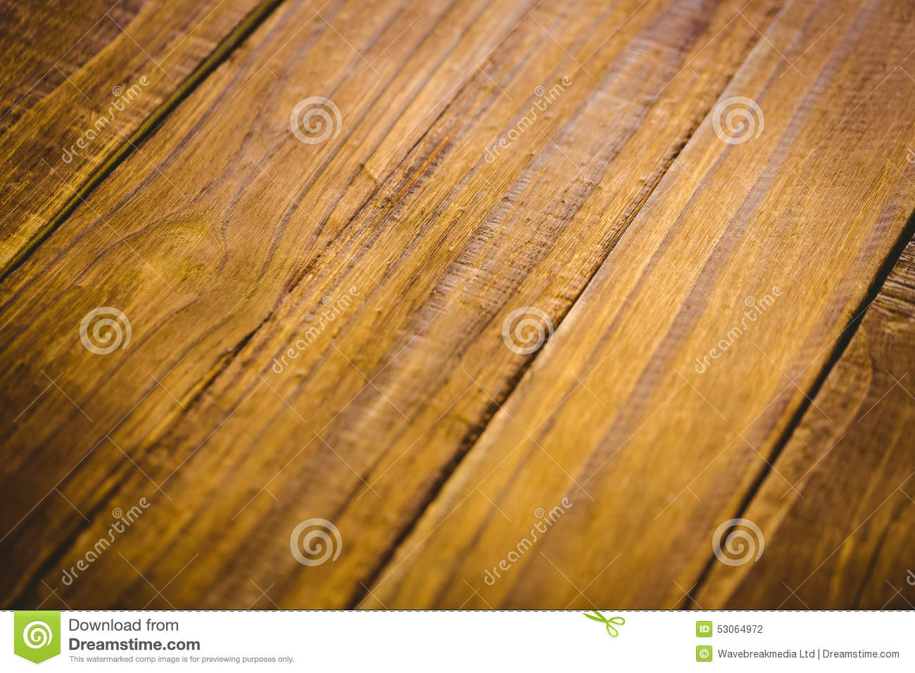 Wooden table in close up