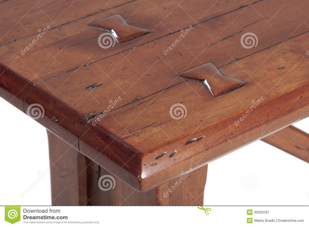 Wooden table detail royalty free stock photography image