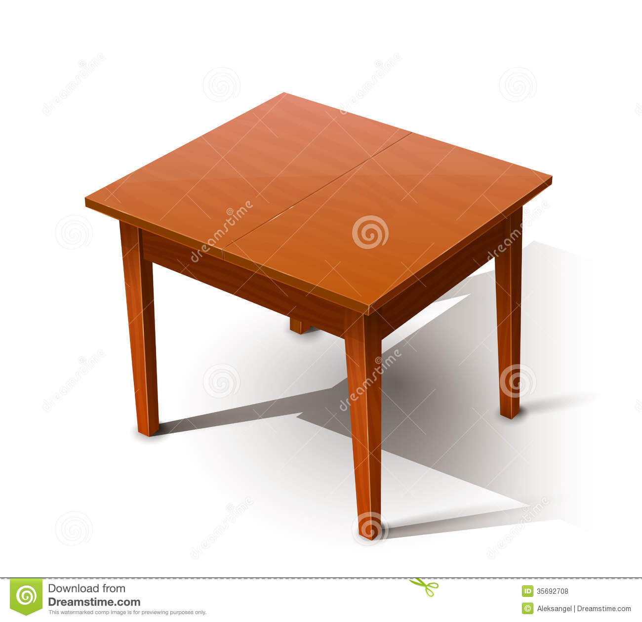 Marvelous photograph of Wooden table. Eps10 vector illustration. on white background  with #4E1801 color and 1300x1259 pixels
