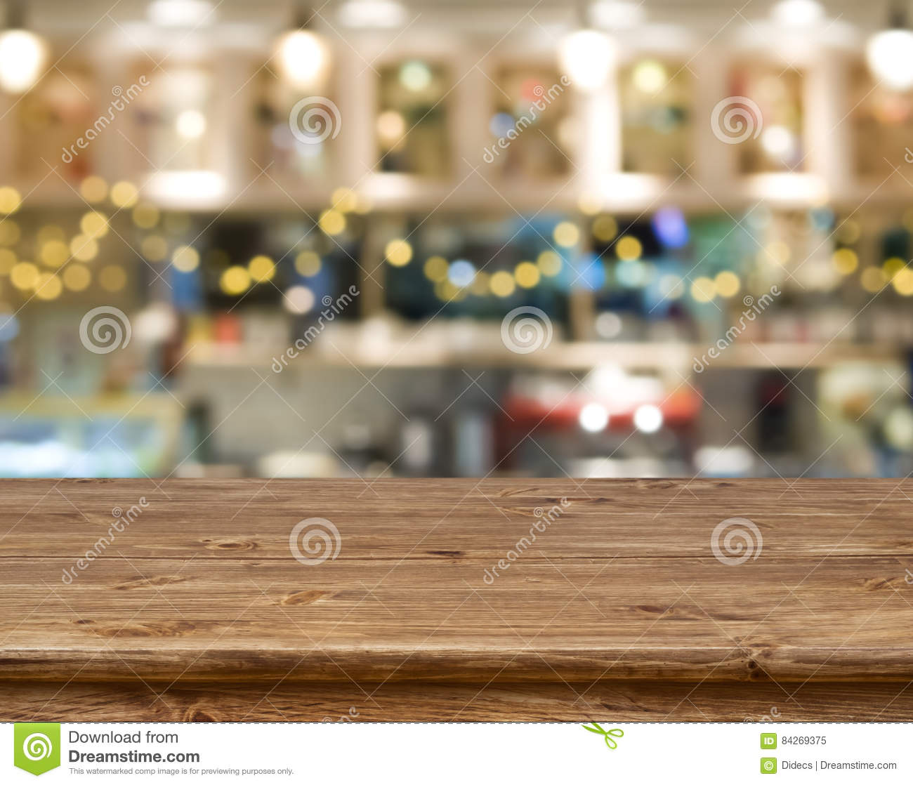 Wood Texture Table On Kitchen Bench Background Royalty
