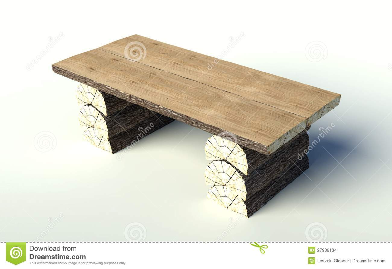 Very Impressive portraiture of Wooden Table Made Of Tree Trunks Stock Images Image: 27936134 with #8E6F3D color and 1300x892 pixels