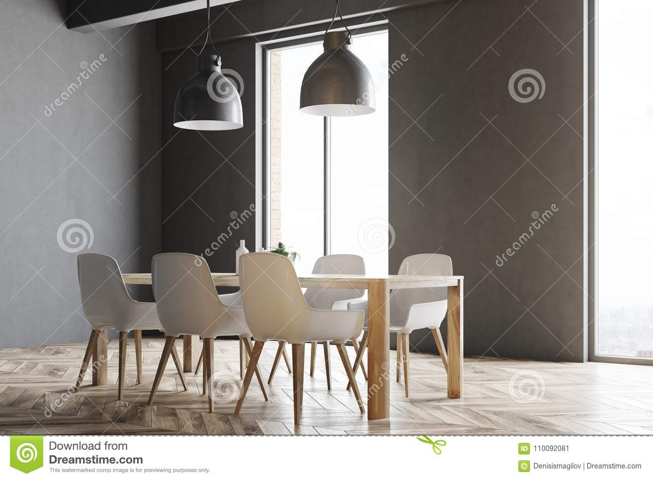 Miraculous Wooden Table With White Chairs Windows Stock Illustration Inzonedesignstudio Interior Chair Design Inzonedesignstudiocom