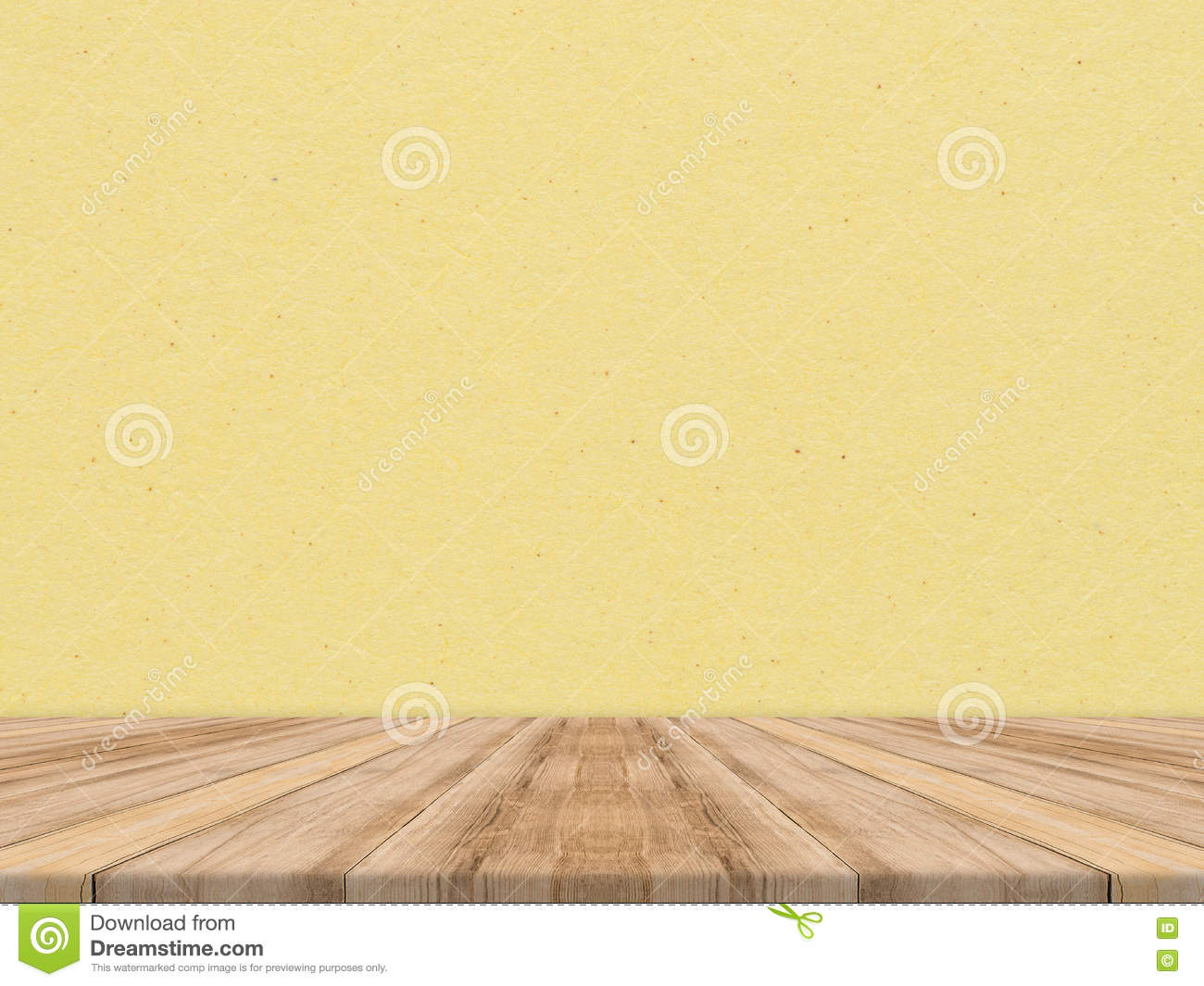 wooden tabletop at tropical paper texture wall template mock up