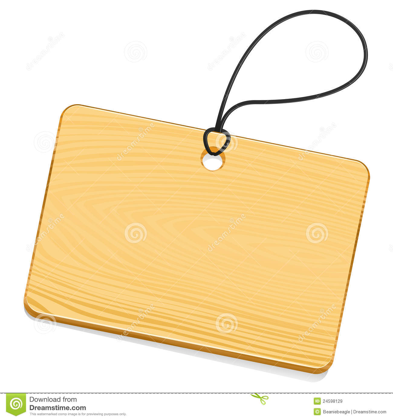Wooden Tag Royalty Free Stock Images - Image: 24598129