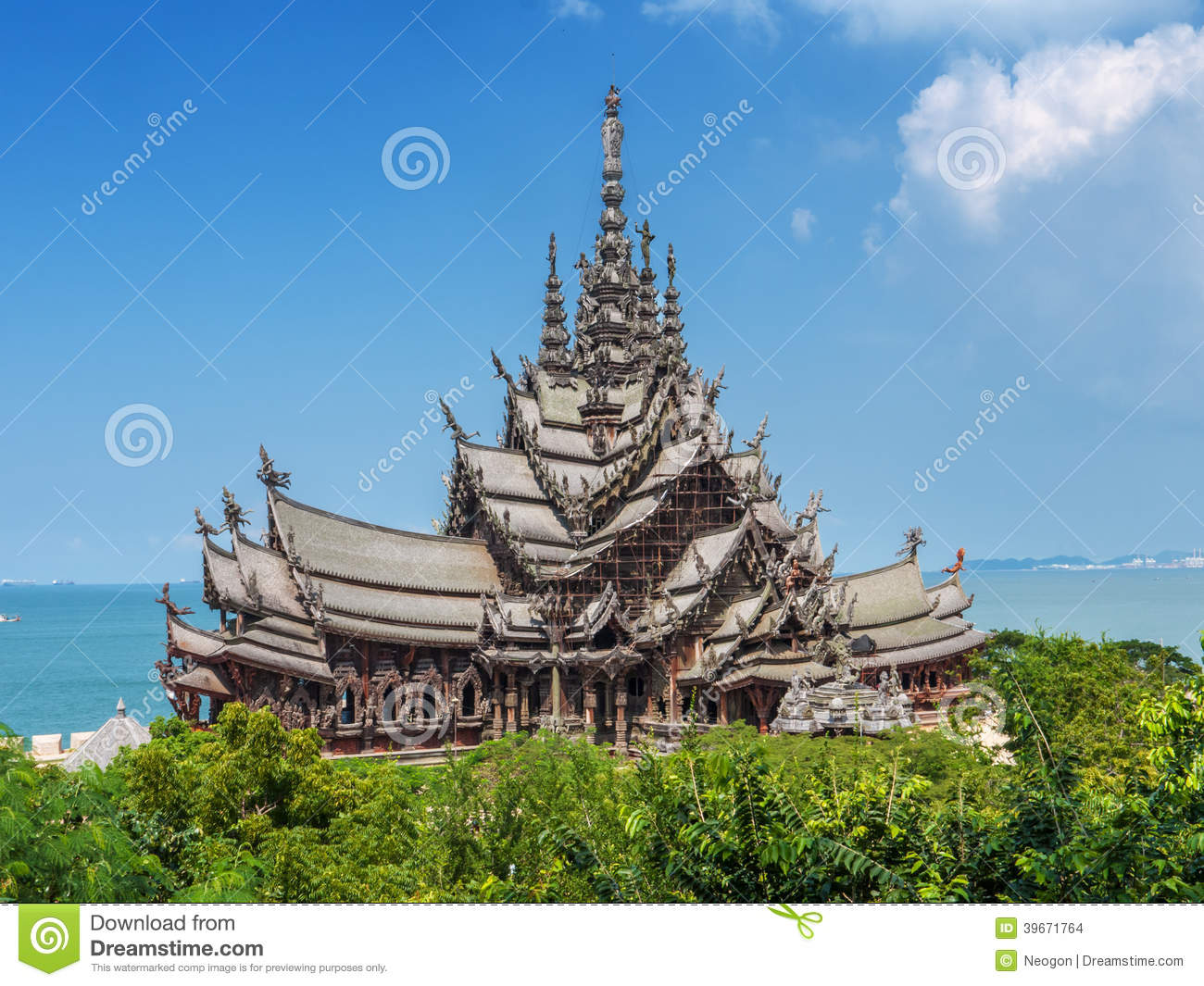 Wooden Temple Thailand Stock Photo Image 39671764