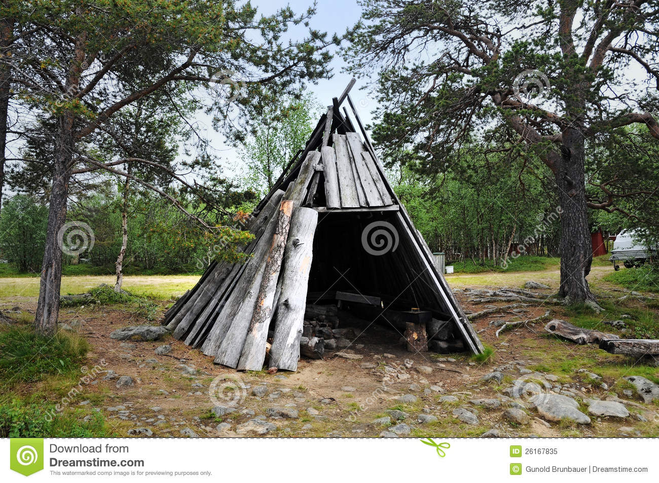Wooden Tent Royalty Free Stock Photo Image 26167835