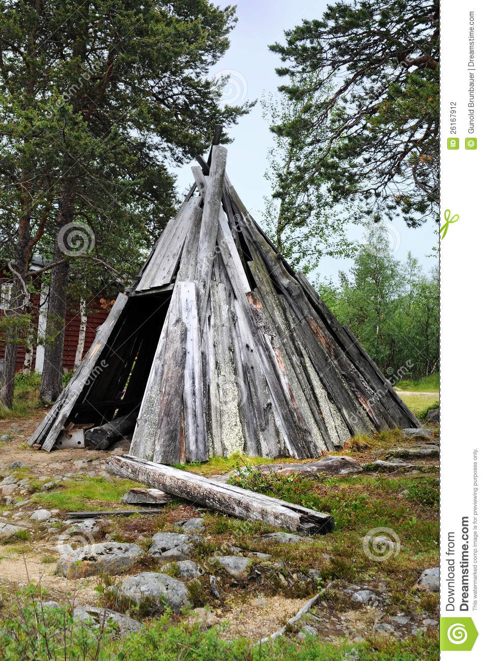 Wooden Tent Stock Photography Image 26167912