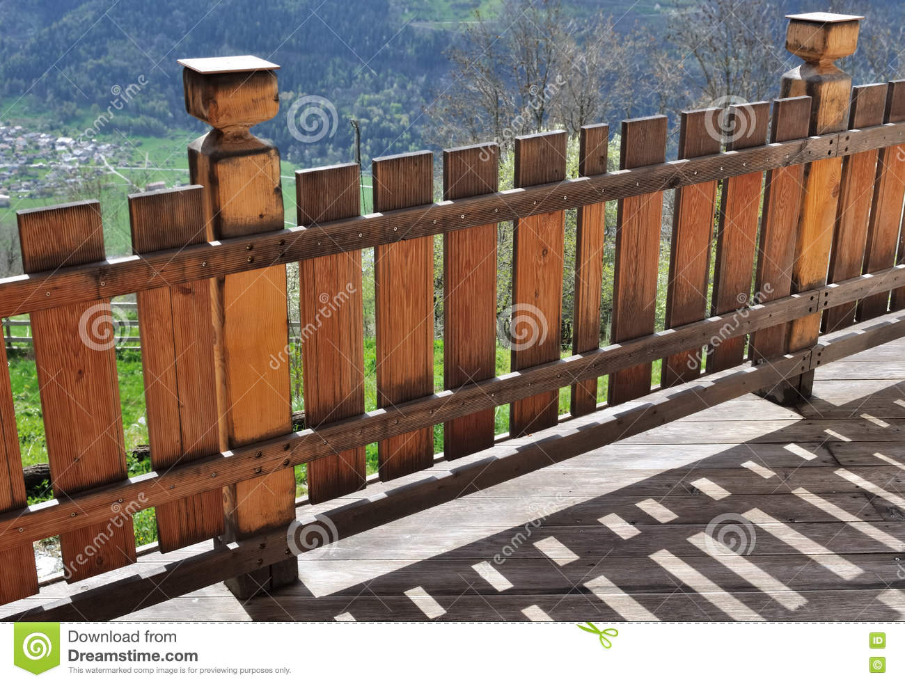 Wooden Terrace Of A Cottage Stock Image Image Of Pine