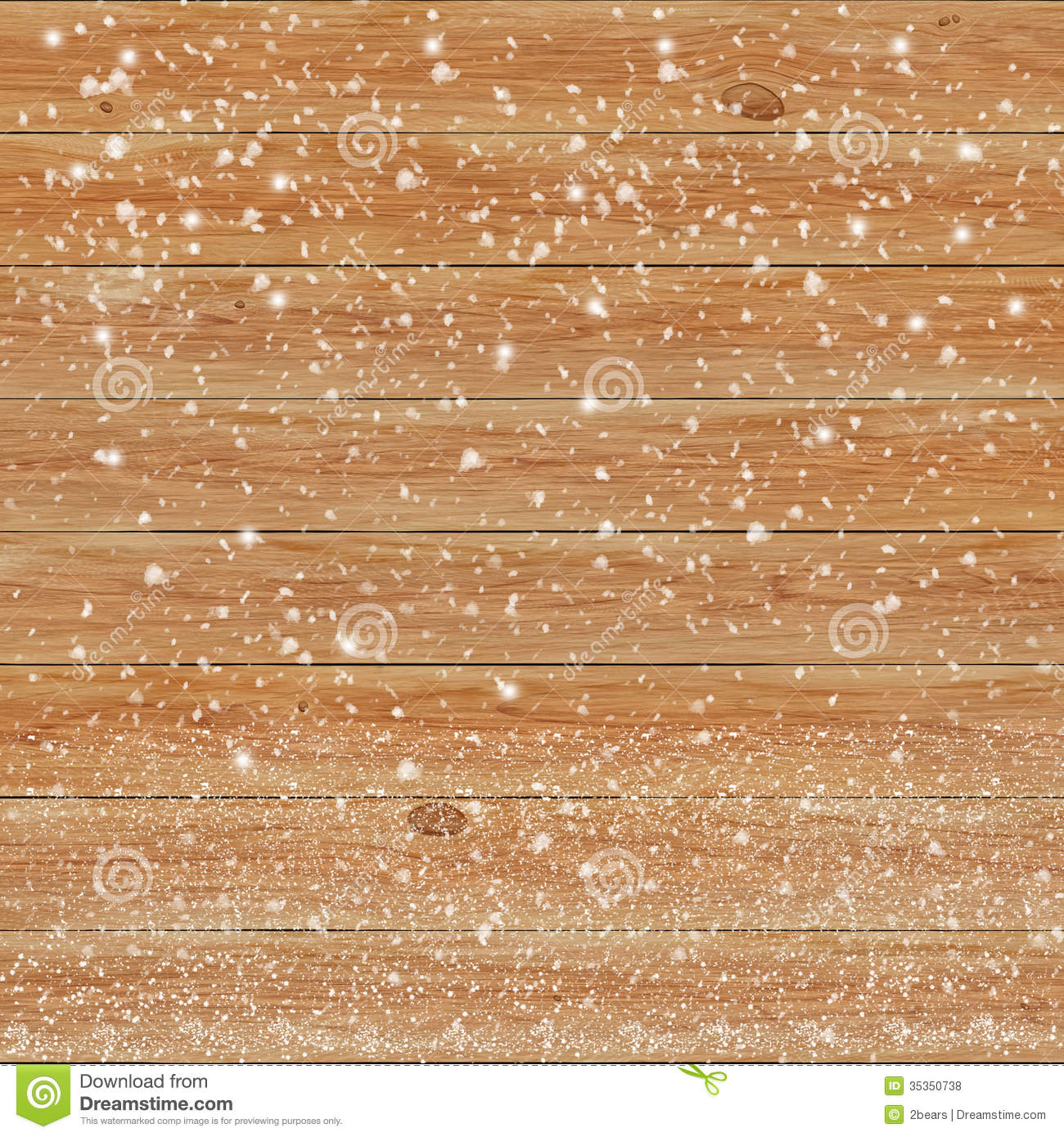 Wooden Texture Background In Snow Royalty Free Stock