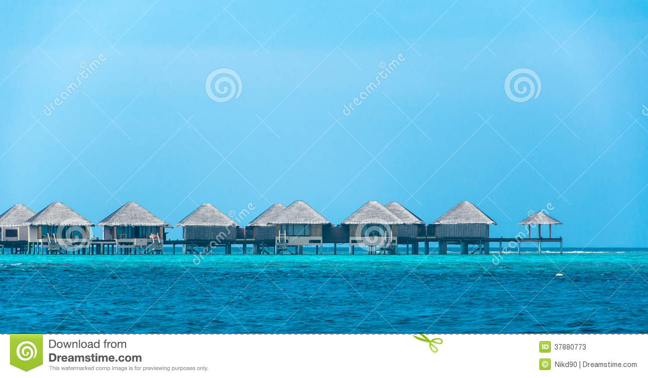 Wooden and thatched Water bungalow - ultimate luxury