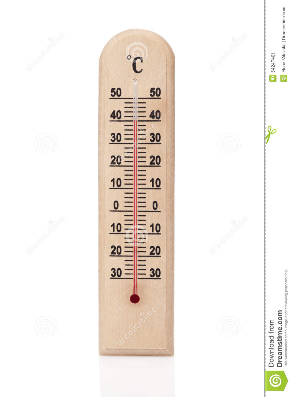 Wooden thermometer stock photo 86770104 for Thermometres exterieurs