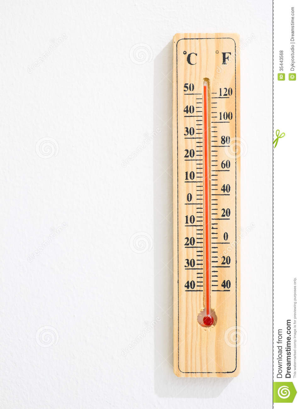 wooden thermometer with maximum temperature royalty free
