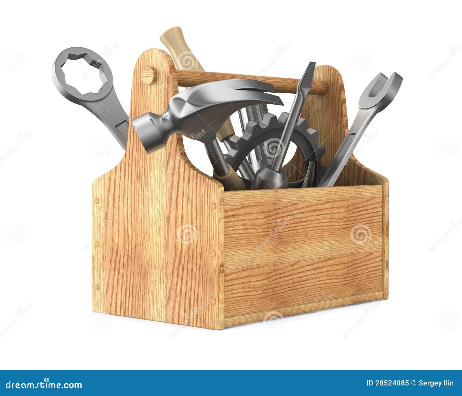 Holz-Werkzeugkasten mi...