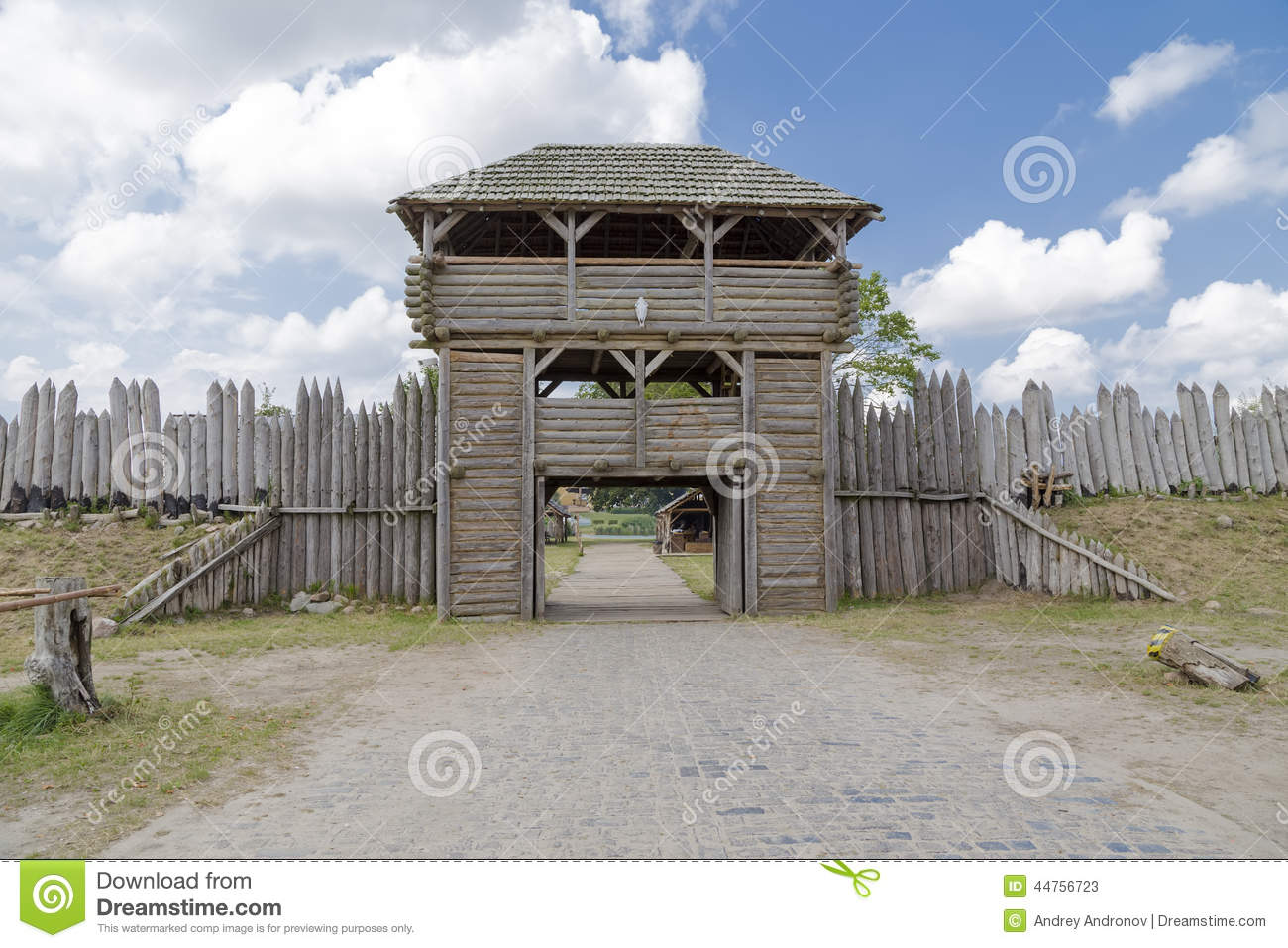 Wooden tower above the gates stock photo image 44756723 for Old wooden forts