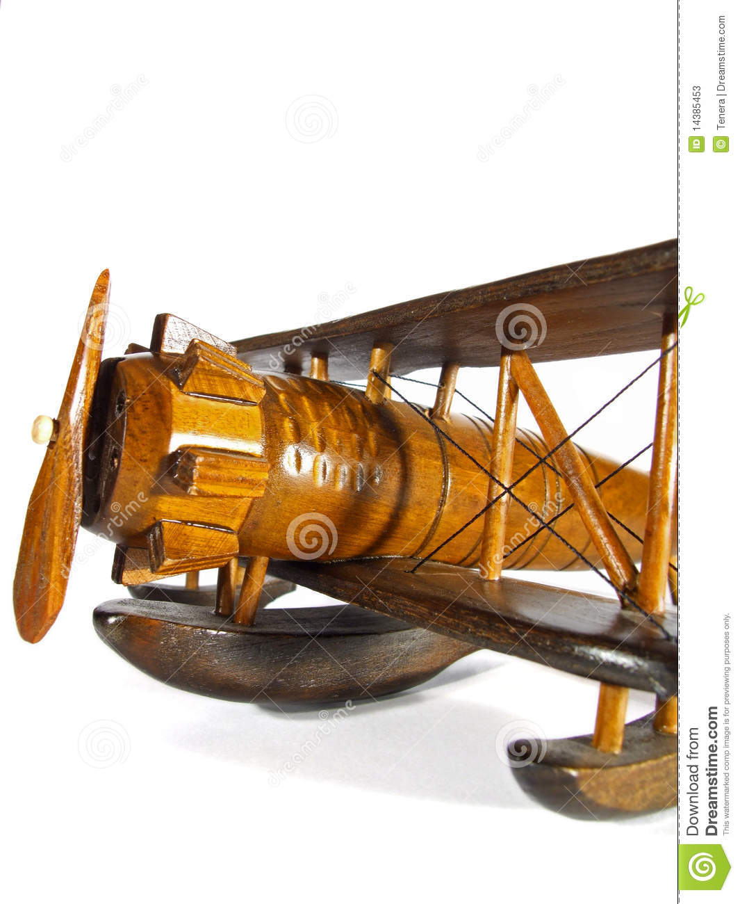 Wooden Toy Airplane Stock Photos Image 14385453