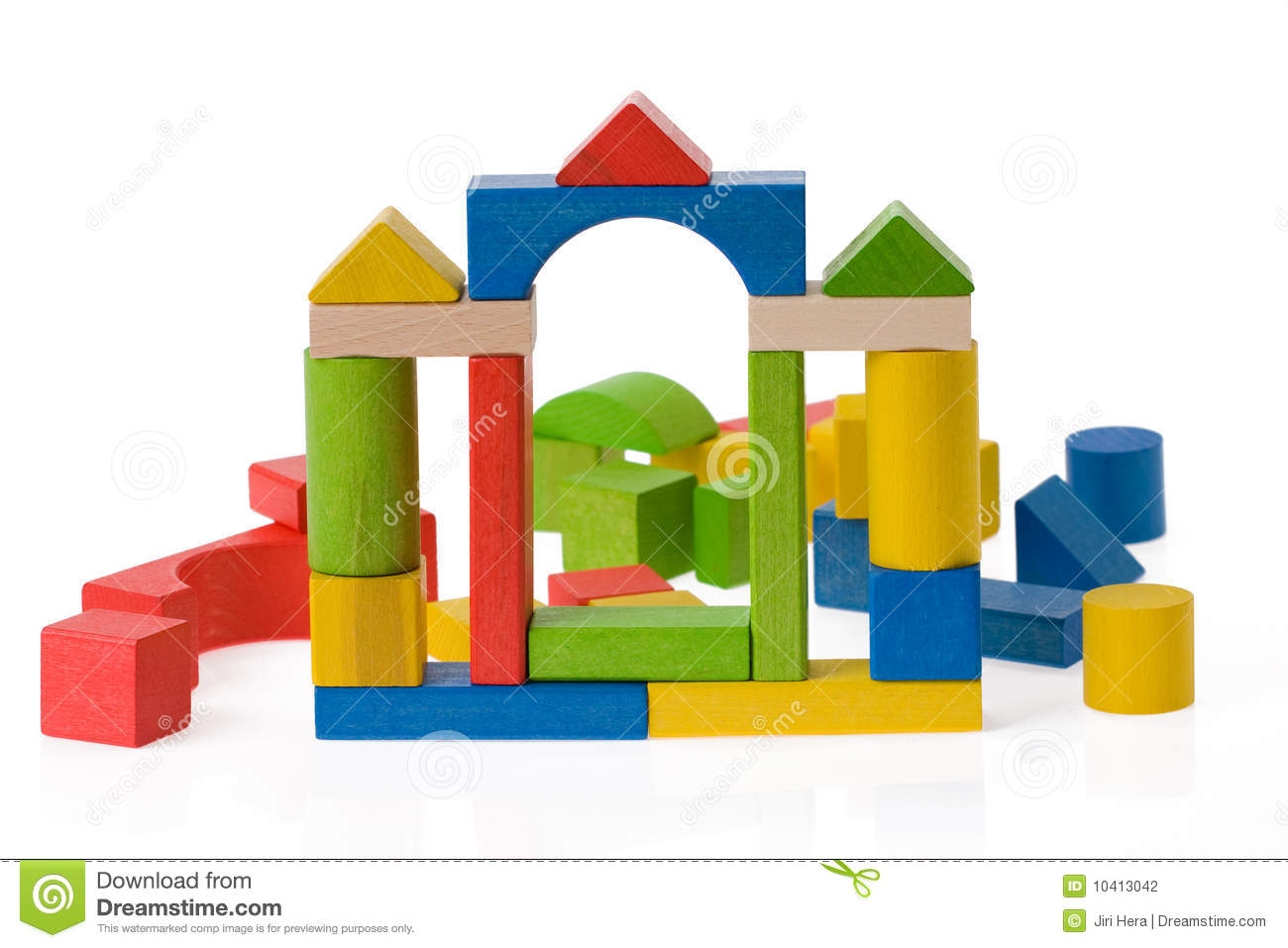 Wooden Toy Blocks Stock Photography - Image: 10413042