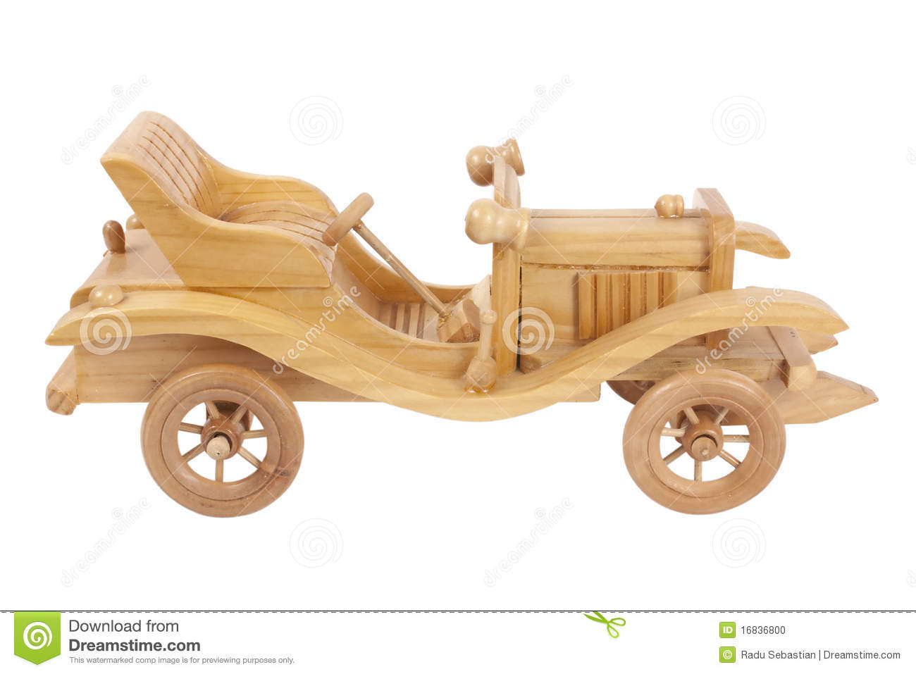 Wooden Toy Car Stock Photo - Image: 16836800