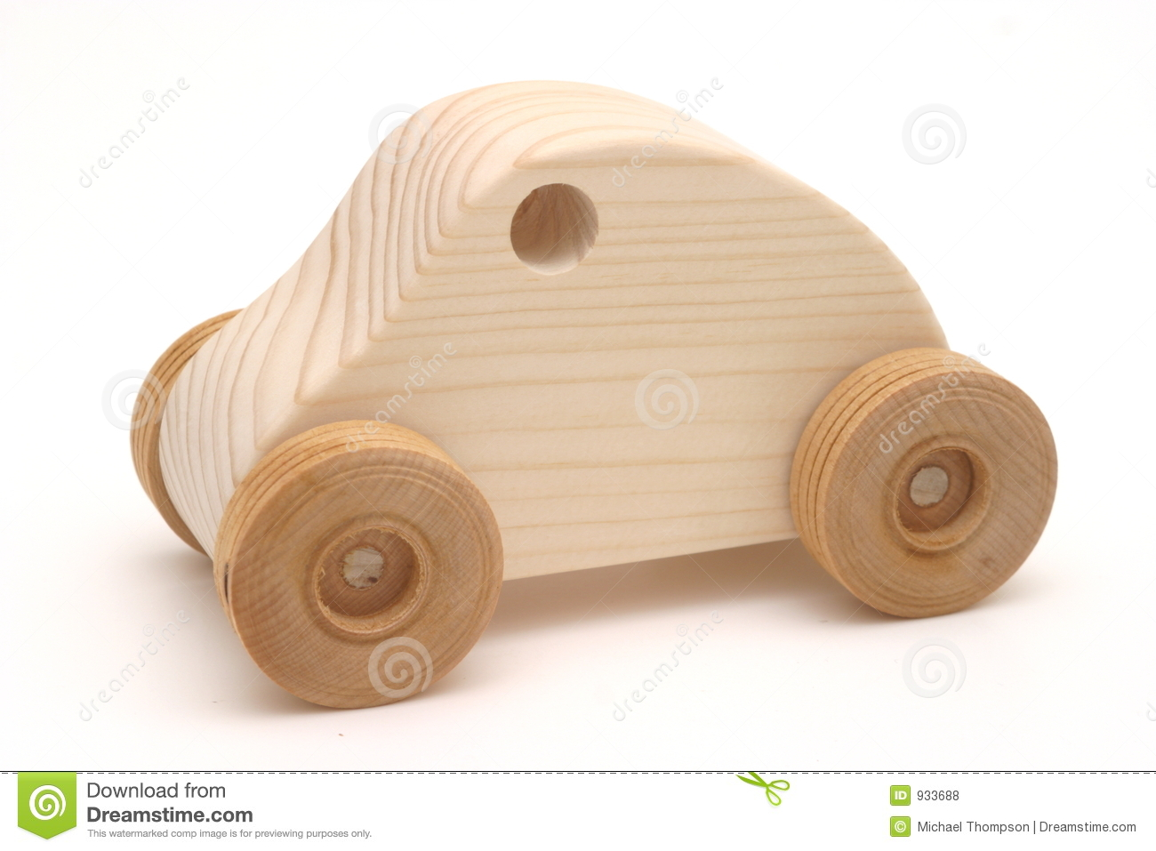 Wooden Toy Car Isolation.