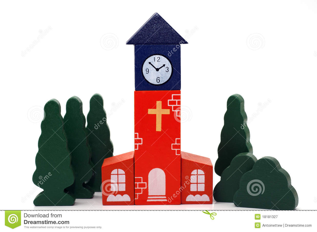 Wooden Toy Church Royalty Free Stock Photography - Image ...