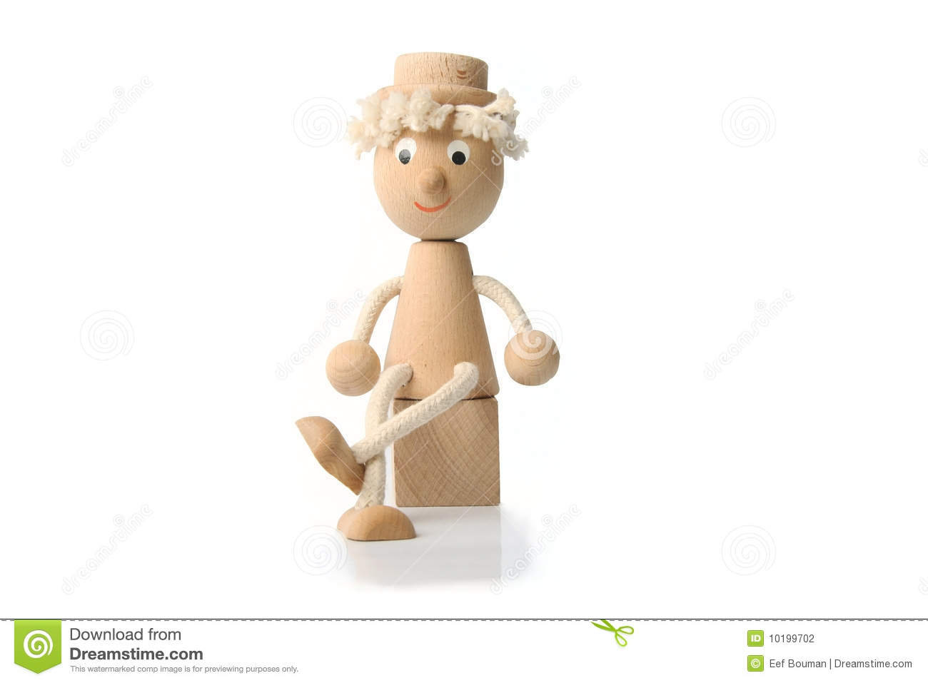 Wooden Toy Figure Stock Photography - Image: 10199702