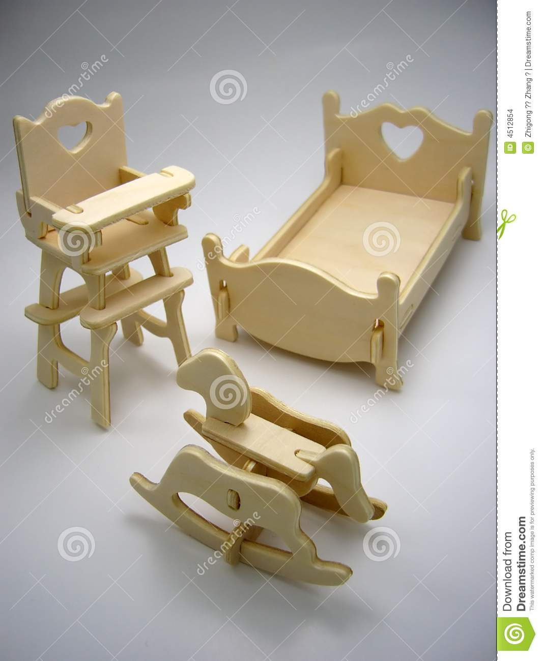Kids Bedroom Furniture Kids Wooden Toys Online: Wooden Toy Furniture Of Children`s Bedroom Stock Photo