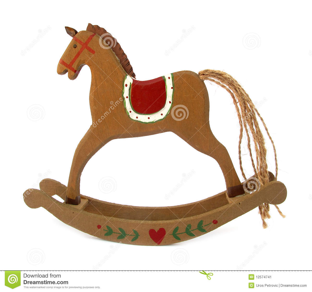 Wooden Toy Horse For Rocking Stock Image - Image: 12574741