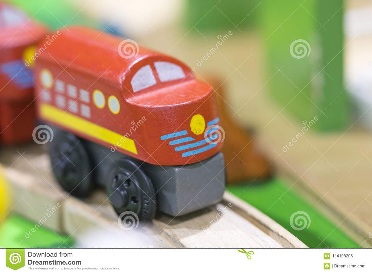Red train Wooden toy - Toys for kids Play set Educational toys f