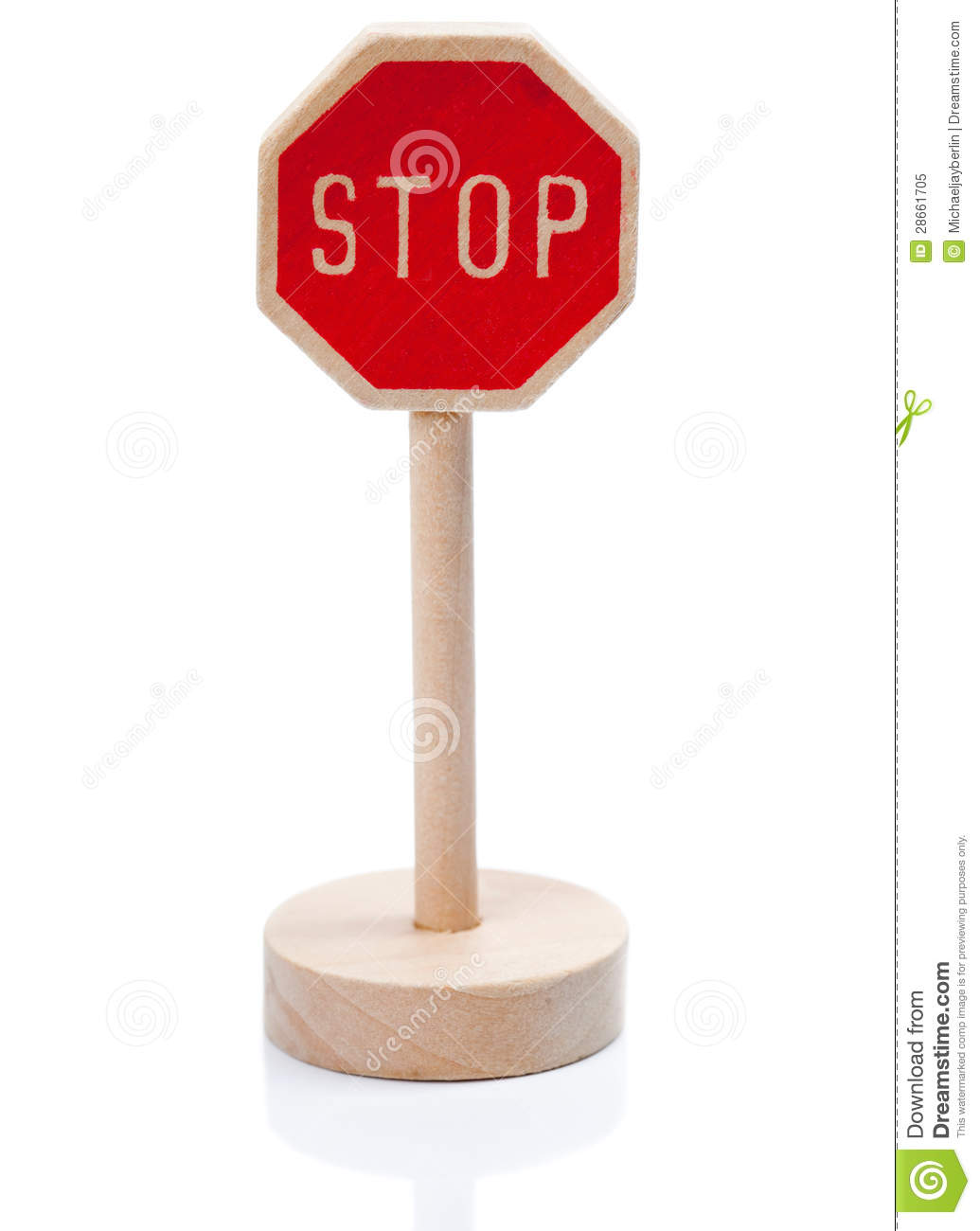 Wooden toy stop sign (Stopschild)