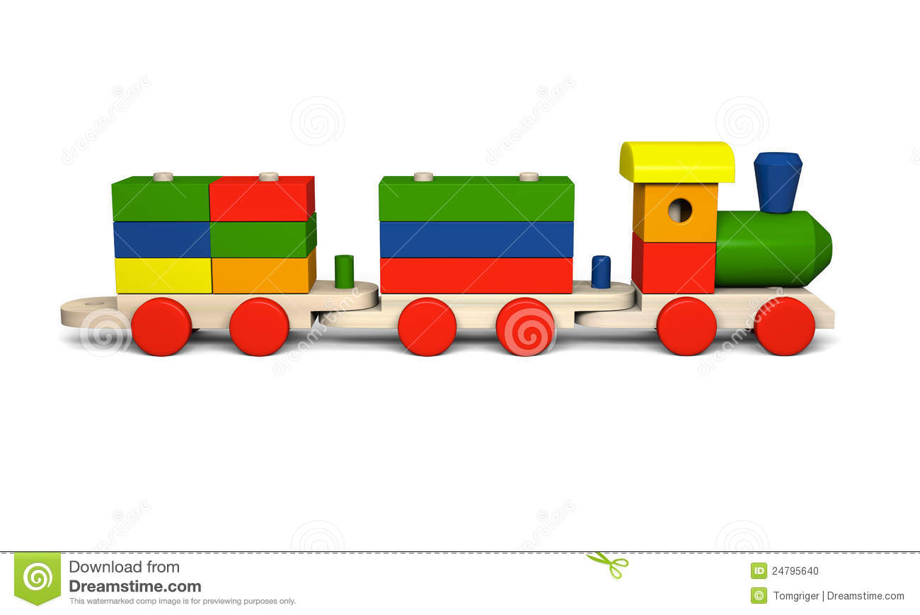Wooden Toy Train Stock Photo - Image: 24795640
