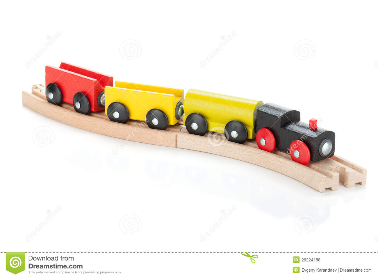 Wooden Toy Train Royalty Free Stock Photos - Image: 26224188