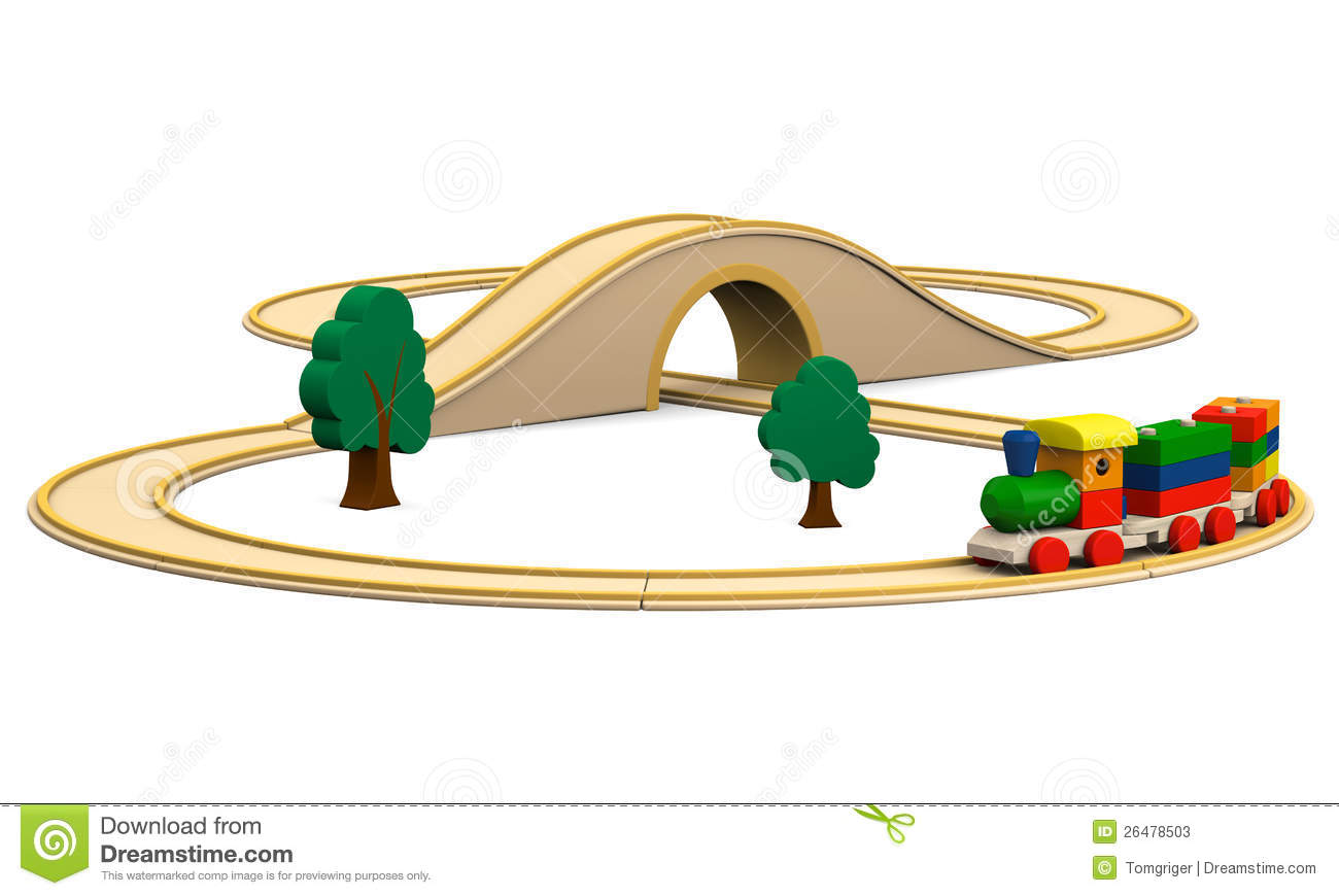 Wooden Toy Train Stock Illustration Illustration Of Blocks 26478503