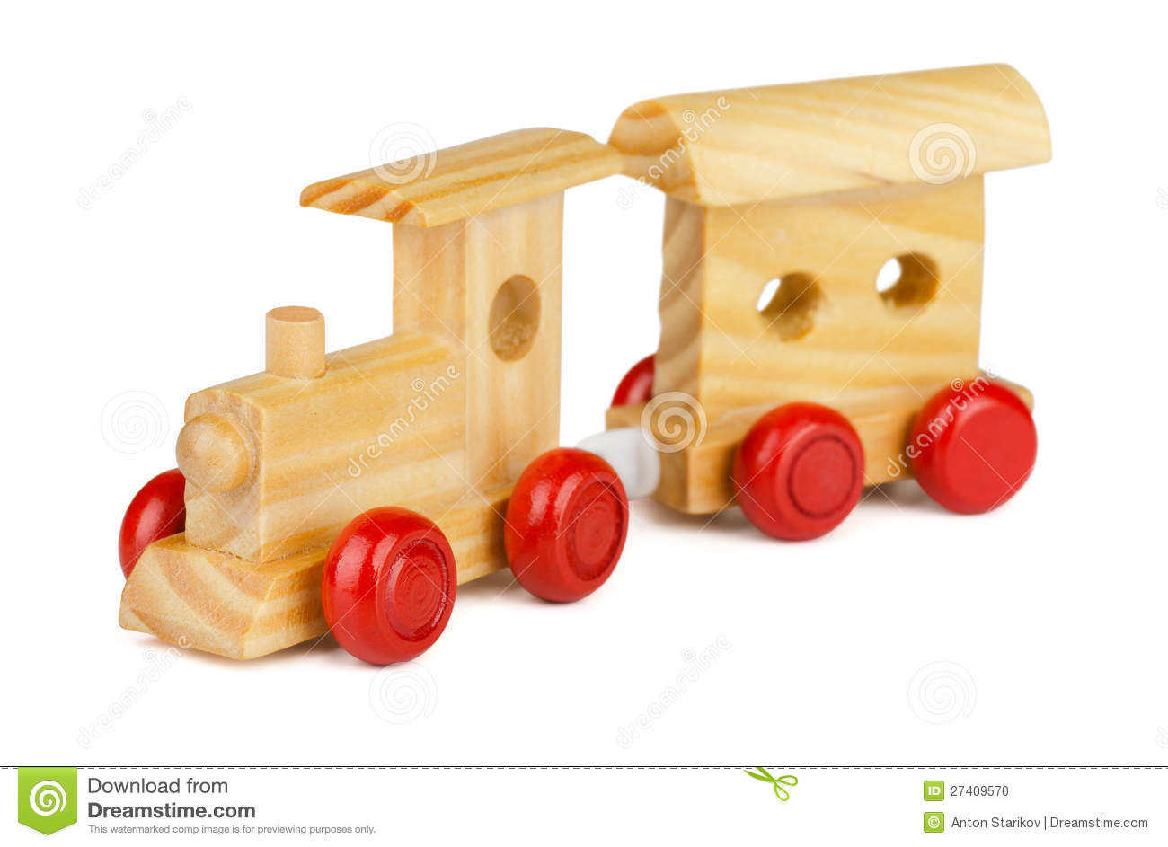 Wooden Toy Train Stock Photo - Image: 27409570
