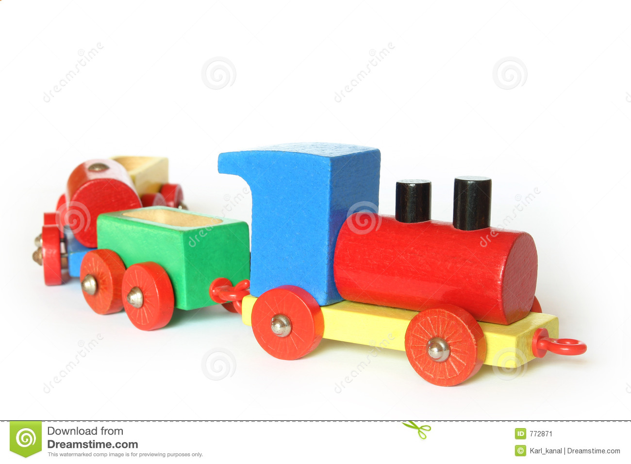 Wooden Toy Train Stock Image - Image: 772871