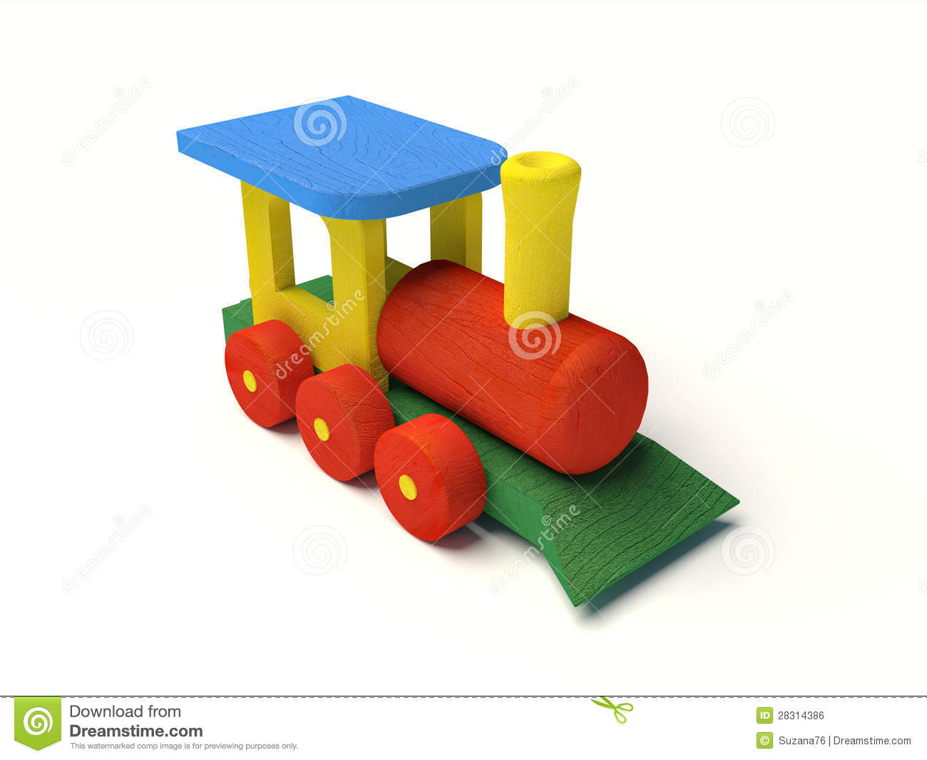 Wooden Toy Train Color Royalty Free Stock Image - Image: 28314386