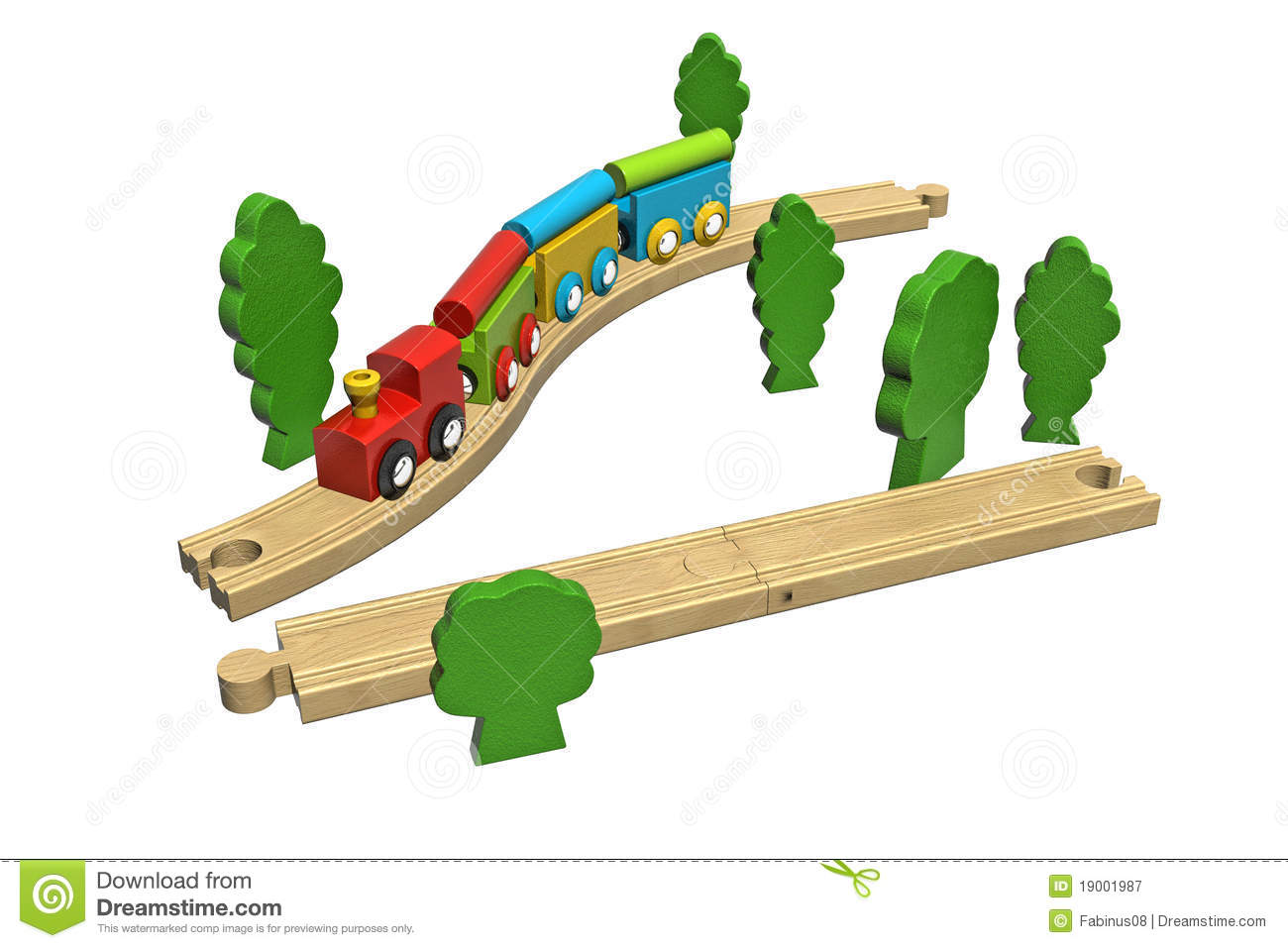 Wooden Toy Train Set. Royalty Free Stock Photography - Image: 19001987