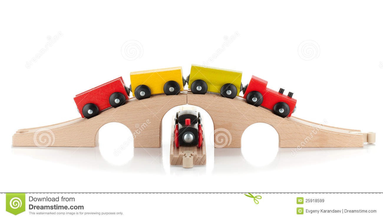 Wooden Toy Trains Royalty Free Stock Images - Image: 25918599