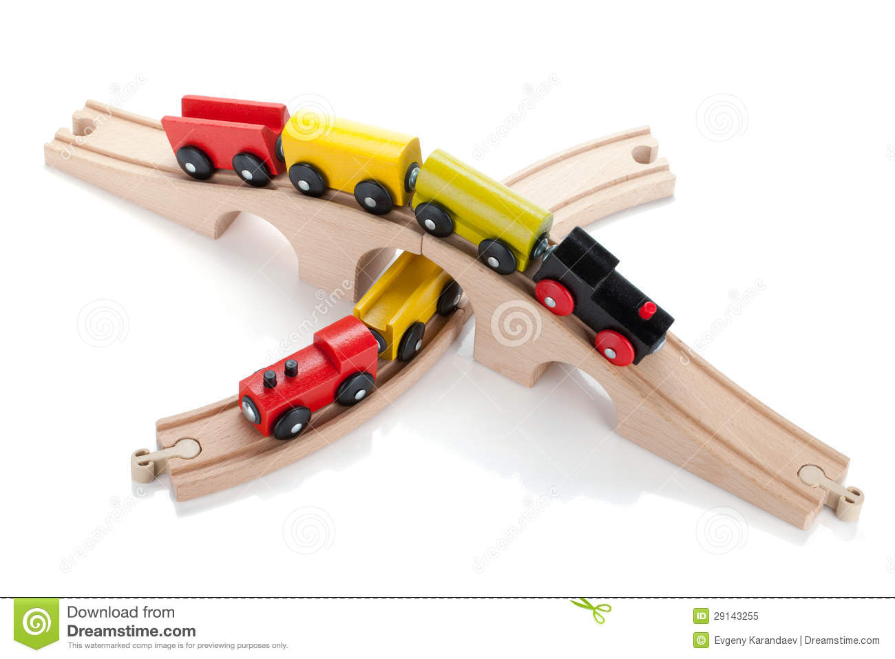 Wooden Toy Trains Royalty Free Stock Photo - Image: 29143255