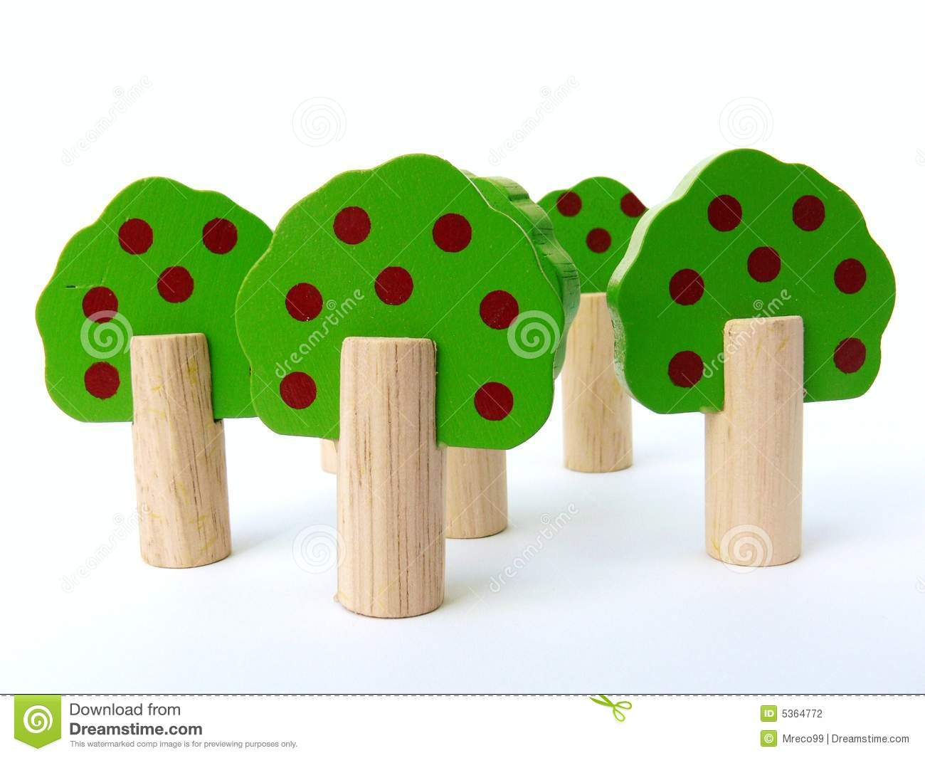 Wooden toy trees stock photography image 5364772 for Arbre maison jouet