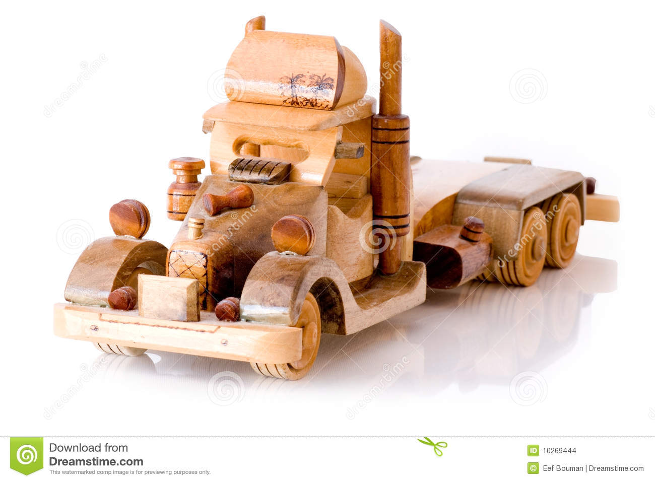 Wooden Toy Truck Stock Images - Image: 10269444
