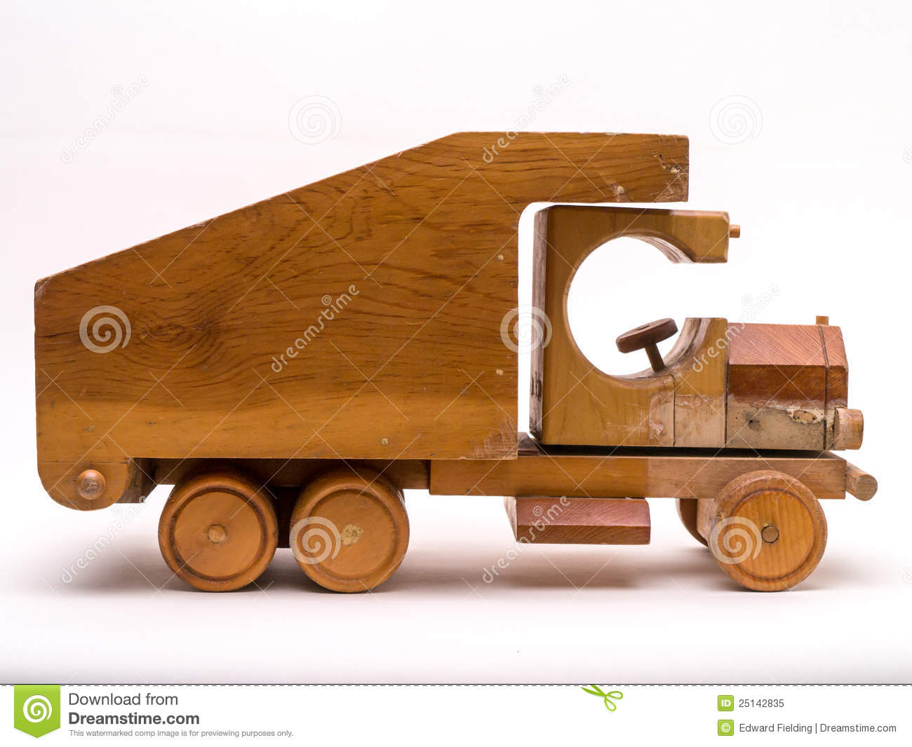 Wooden Toy Truck Side Royalty Free Stock Photo - Image: 25142835