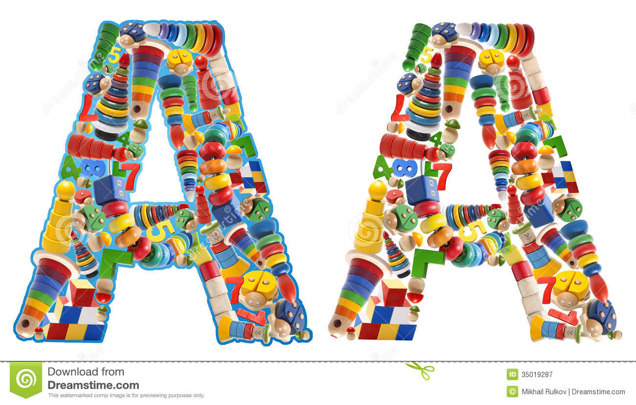 Wooden Toys Alphabet - Letter A Royalty Free Stock ...