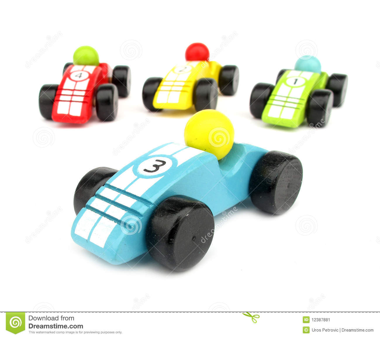 Toy Race Trucks : Wooden toys race cars stock image