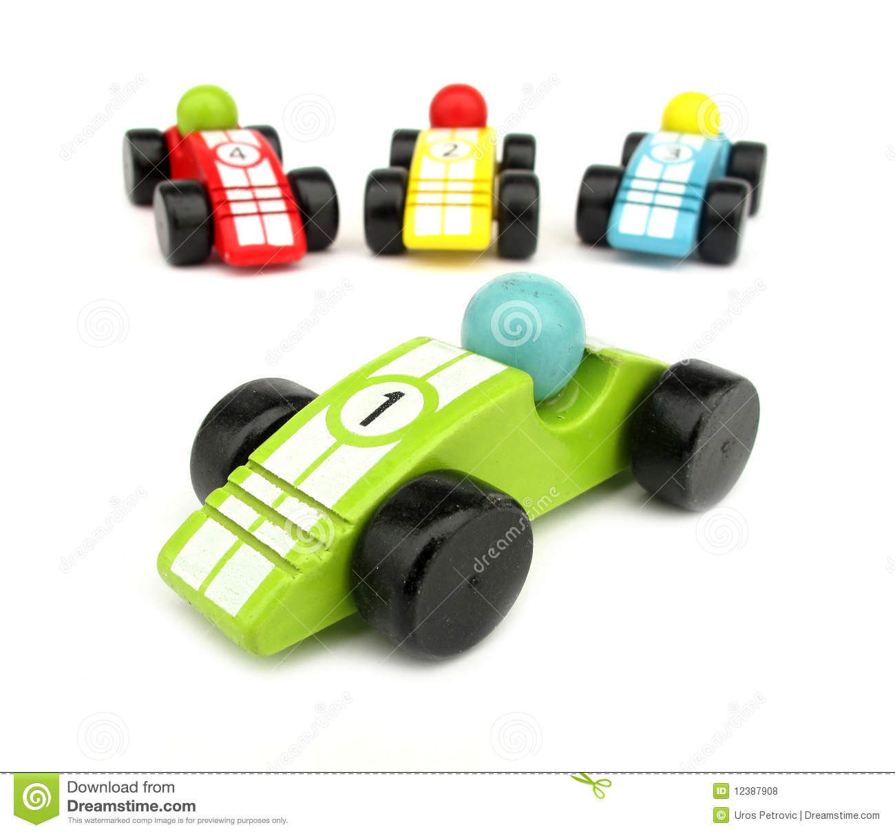 Wooden Toys Race Cars Royalty Free Stock Photos - Image: 12387908