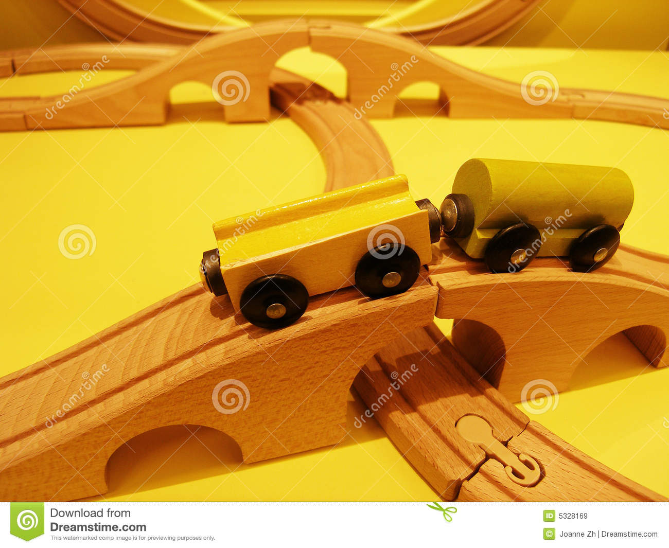 Wooden Toys Train Set Royalty Free Stock Images - Image: 5328169