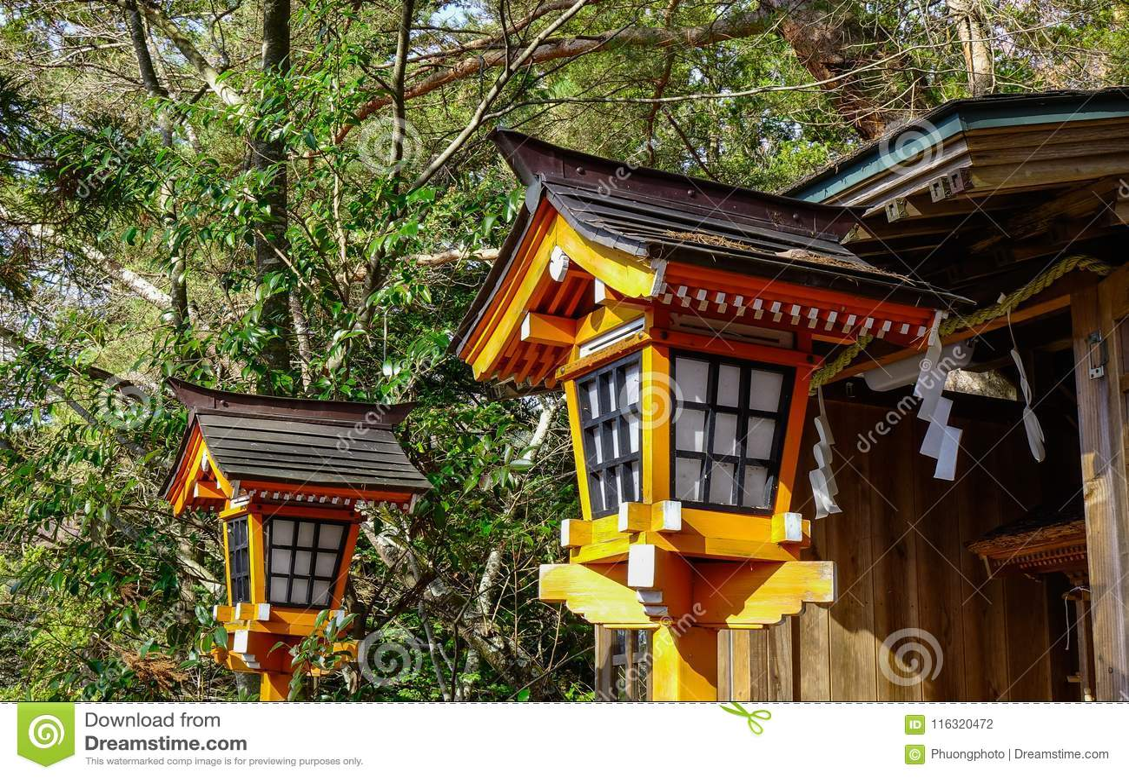 Wooden Traditional Japanese Lantern Stock Photo Image Of Kyoto
