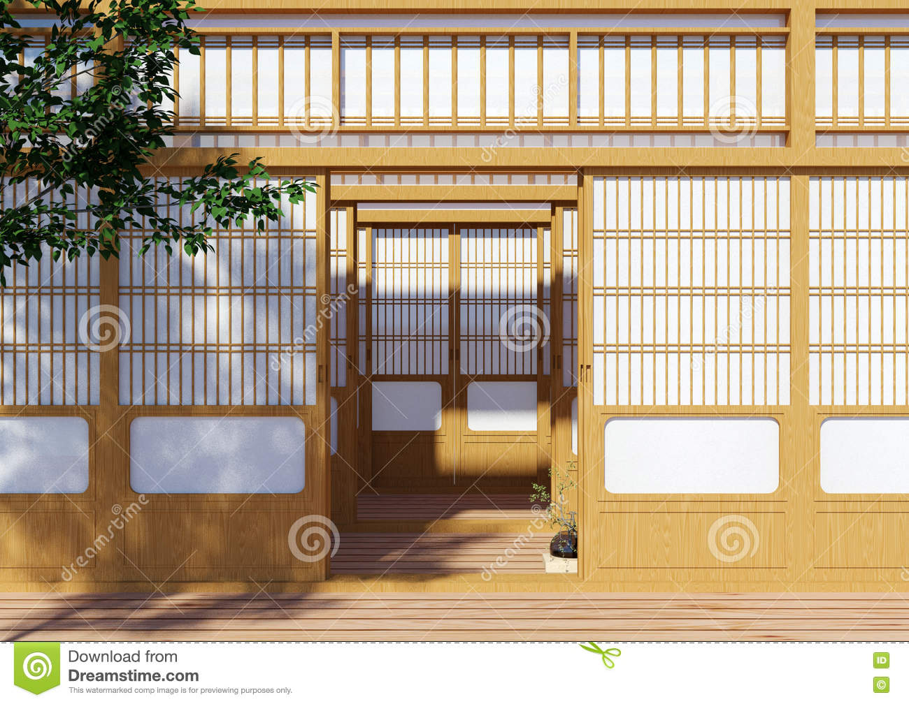 Wooden Traditional Japanese Shoji Door Japanese Traditional