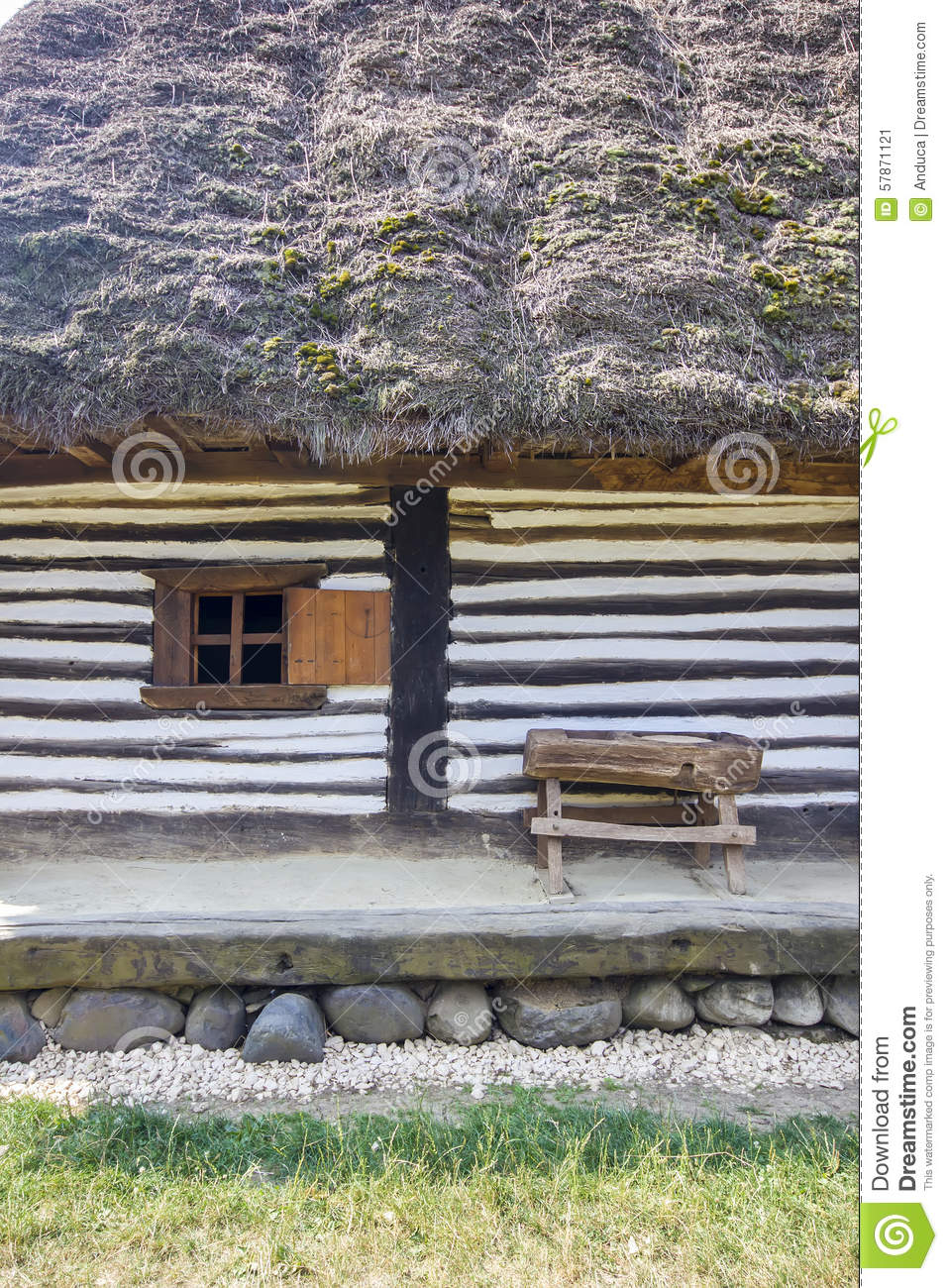 Wooden traditional romanian house