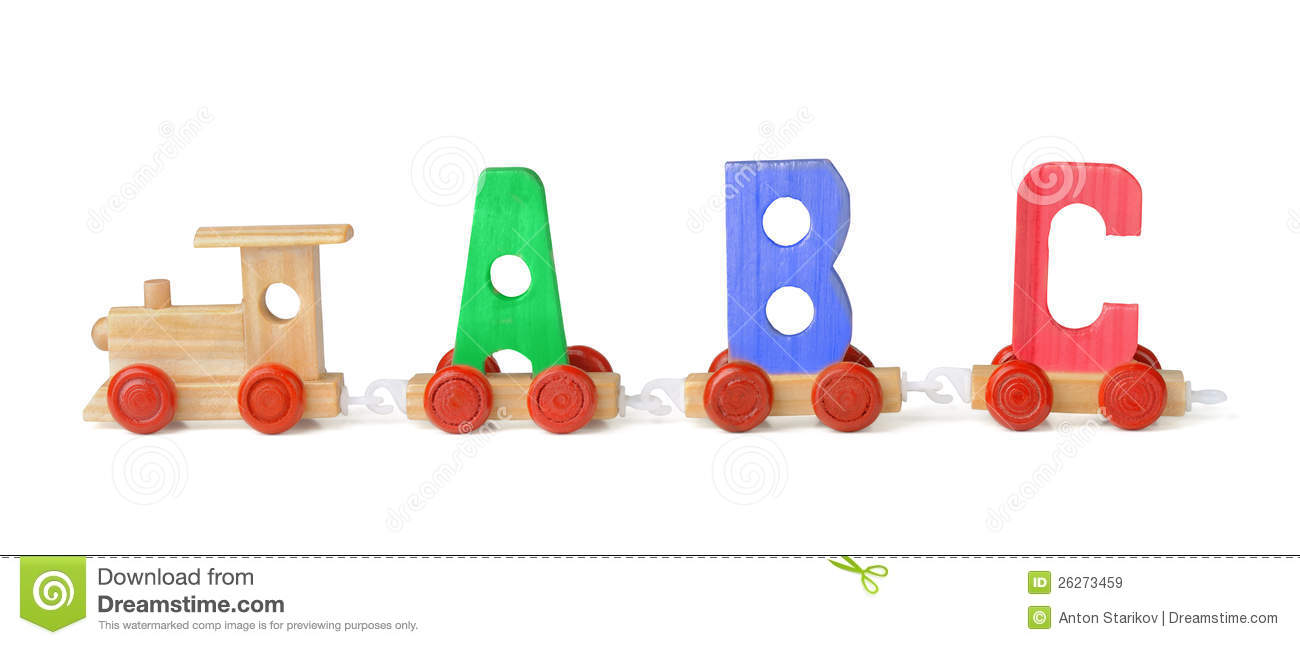 Wooden train stock image  Image of order, play, concepts