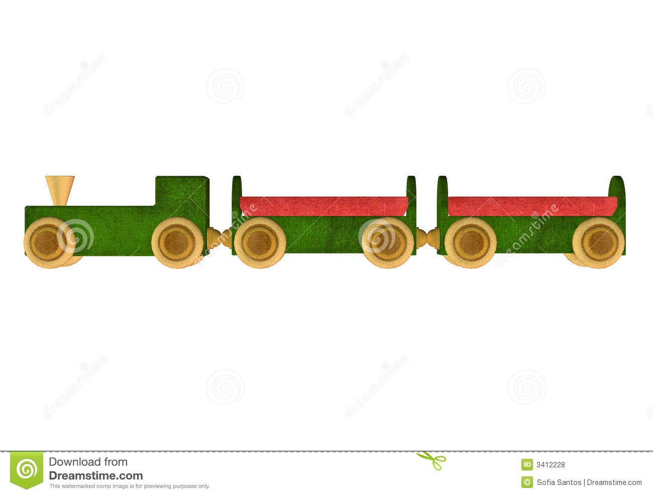Wooden Train Toy Royalty Free Stock Photos - Image: 3412228